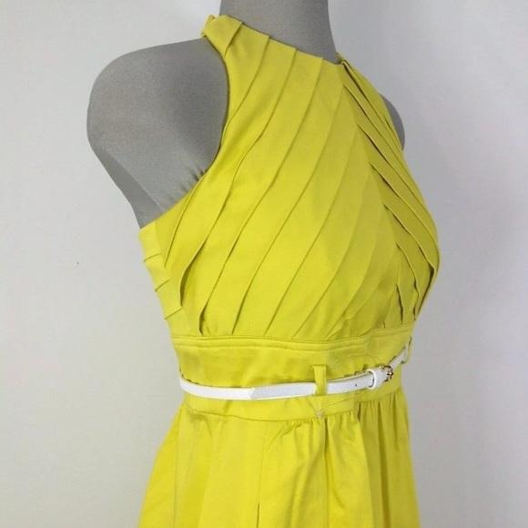 Yellow Ellen Tracy Halter Top Dress Size 6 by Ellen Tracy